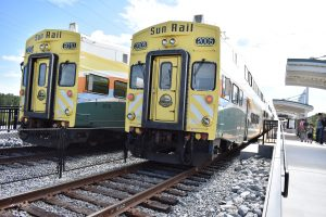 Sunrail trains at grand opening for Sunrail Southern Expansion