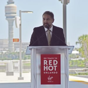 Man speaking at the podium
