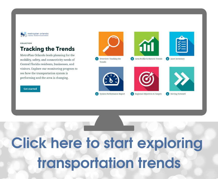Click here to start exploring transportation trends in our Tracking the Trends digital publication
